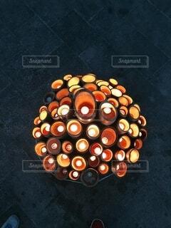 アート,オレンジ,キャンドル,床,お菓子
