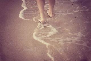 自然,海,屋外,ビーチ,砂浜,裸足,歩く,波打ち際,素足,沖縄の海