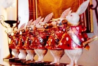 屋内,洋館,置物,神戸,異人館,並ぶ,ウサギ