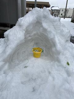 建物,雪,覆う,杭,イグルー