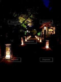 夜,屋外,神社,灯篭,神秘,安らぎ