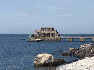 自然,空,屋外,湖,ビーチ,船,水面,岩,回天