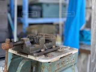 屋外,青,工場,鉄,工具,無機質