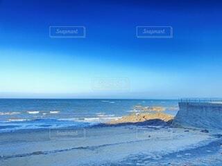 自然,風景,海,空,屋外,砂,ビーチ,青,幻想的,水面,海岸