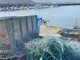 屋外,船,水面,港,フェンス,網
