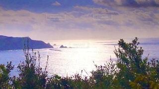 自然,風景,海,空,屋外,湖,ビーチ,雲,水面,海岸,山,樹木
