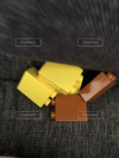黄色,茶色,ソファ,ツール,LEGO,ブロック