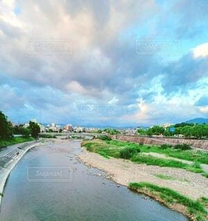 自然,風景,空,屋外,湖,ビーチ,雲,川,水面,草,樹木