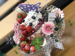 白,苺,リボン,手作り,デコレーションケーキ,りぼん,フォトウェディング,チョコ細工