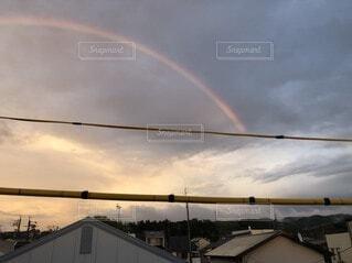 空,屋外,雲,虹,明るい