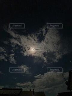 自然,風景,空,雲,天体,虹,暗い,月