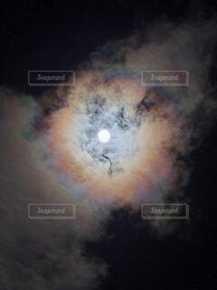 自然,風景,空,雲,天体,虹,暗い,星,月,天文学