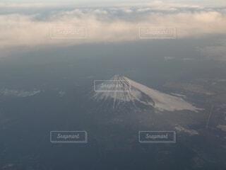 自然,風景,空,富士山,雪,屋外,雲,飛行機,霧,山,雲海,空中,航空機,成層火山