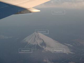 空,富士山,雪,屋外,雲,飛行機,霧,飛ぶ,山,雲海,空中,航空機