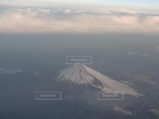 自然,風景,空,富士山,雪,屋外,雲,飛行機,霧,山,雲海,空中,航空機