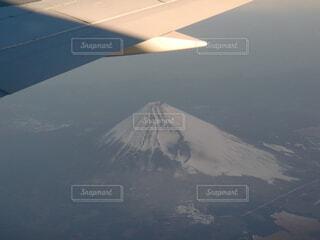 自然,空,富士山,屋外,雲,飛行機,霧,山,雲海,空中,航空機