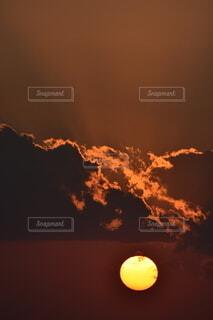 空,屋外,太陽,雲,夕焼け,暗い,煙,火,熱