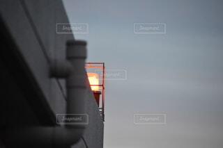 空,ビル,屋外,明るい,街路灯,航空障害灯