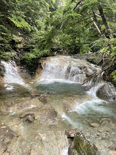 自然,屋外,川,水面,滝,樹木,草木,ストリーム
