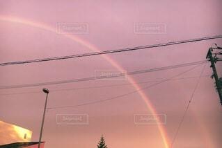空,屋外,虹