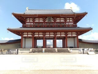 空,建物,屋外,地面,寺,建築