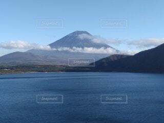 自然,風景,空,雪,屋外,湖,雲,水面,山,成層火山