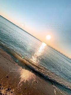 海,空,夕日,太陽,夕焼け