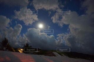 自然,風景,空,雲,月,満月