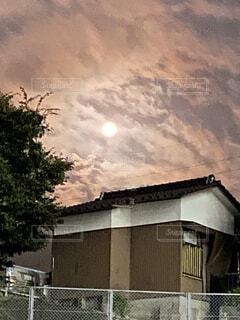 自然,風景,空,建物,屋外,雲,家,樹木,月