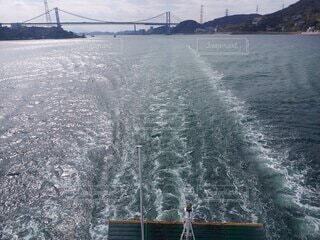 海,橋,雲,船