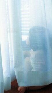 窓から外を見つめる女の子の写真・画像素材[4919302]