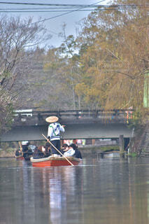 風景,屋外,湖,ボート,船,川,水面,池,人,川下り,パドル