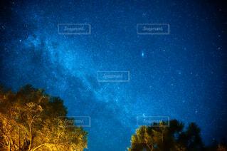 空,夜,屋外,星