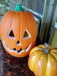 10月ハロウィンの行事用 かぼちゃの飾り物の写真・画像素材[4917053]