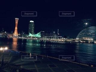 夜景 港 海