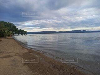 自然,風景,空,屋外,湖,ビーチ,雲,水面,海岸,樹木
