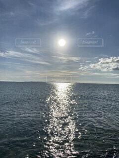 自然,海,空,屋外,湖,太陽,ビーチ,雲,ボート,波,水面,海岸,月,日中