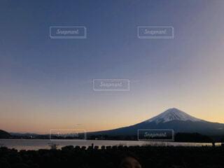 自然,風景,空,富士山,湖,夕暮れ,水面,山