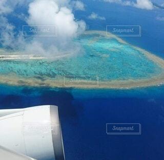 自然,海,雲,飛行機,旅行,空中,珊瑚礁,アクア,透明な水
