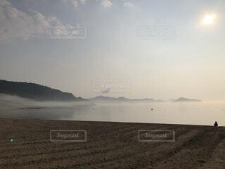 自然,風景,空,屋外,湖,ビーチ,雲,水面,海岸,霧,山