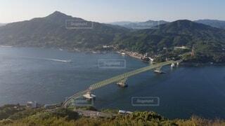 自然,風景,海,空,橋,屋外,ボート,船,山,景色