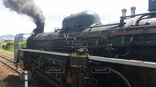 屋外,黒,機関車,鉄道,蒸気,車両,陸上車両