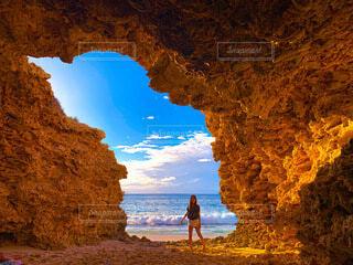 自然,海,空,屋外,ビーチ,洞窟,オーストラリア