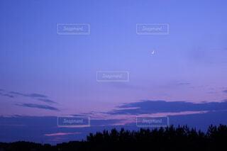 自然,風景,空,屋外,ピンク,雲,紫,月