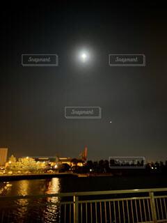 空,夜,屋外,月