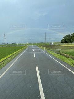 風景,空,屋外,虹,道路,草,高速道路,道