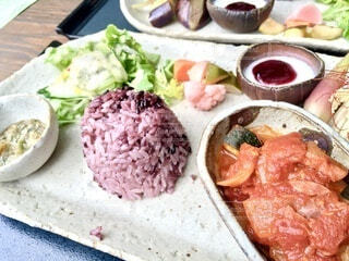 ランチ,健康,ご飯,雑穀米,ラタトゥイユ,食欲の秋