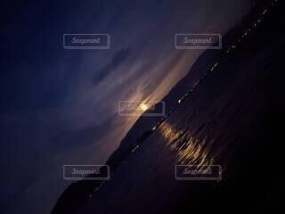 自然,風景,空,夜,ビーチ,雲,夕暮れ,水面,月