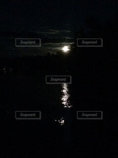 自然,風景,空,夜,花火,暗い,水面,アメリカ,反射,鏡,月,月夜