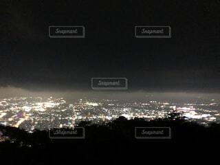 空,夜,夜景,夜空,ビル,屋外,田舎,登山,山頂,明るい,山登り